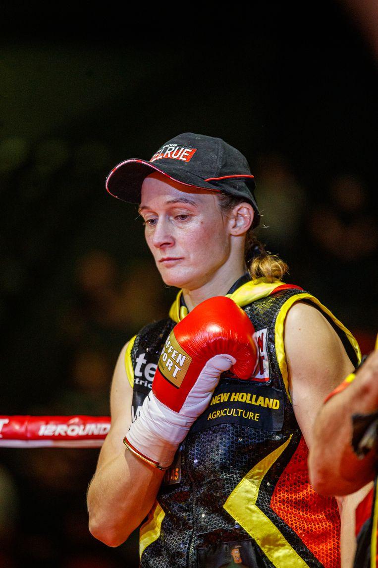 Delfine Persoon mag in maart, als amateur, boksen voor een olympisch ticket. Beeld BELGA