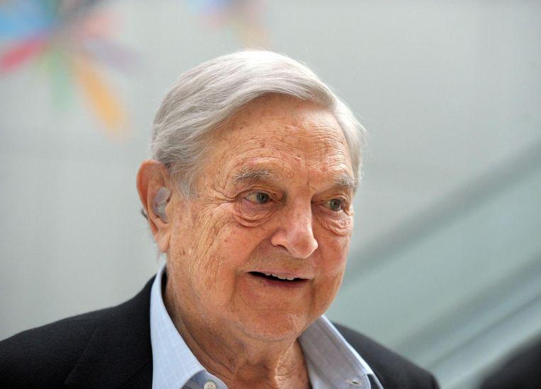Miljardair en Open Society-stichter George Soros steekt 10 miljoen dollar in de rechtsbijstand van mensen die slachtoffer zijn van publieke beledigingen van Trump. Beeld anp
