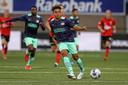 Tijdens het duel met Helmond Sport was Fredrik Oppegard er bij Jong PSV ook bij, ruim twee weken geleden.