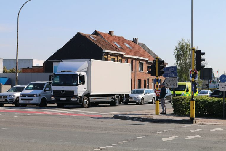 Het kruispunt Kontichsesteenweg-N177.