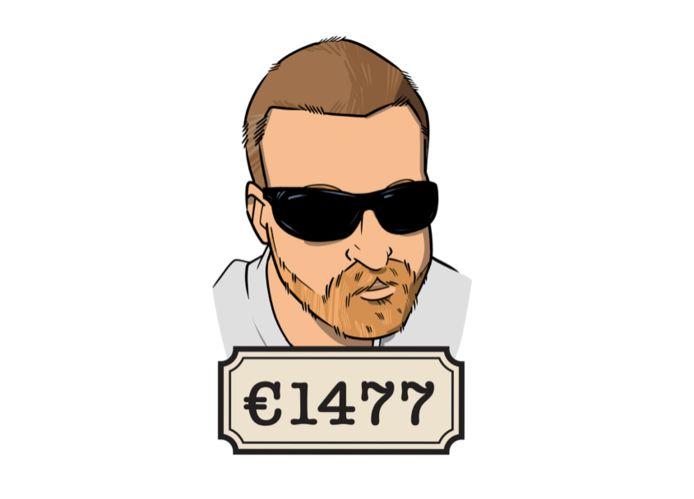 Steffan werkt parttime en verdient 1645 euro bruto per maand.