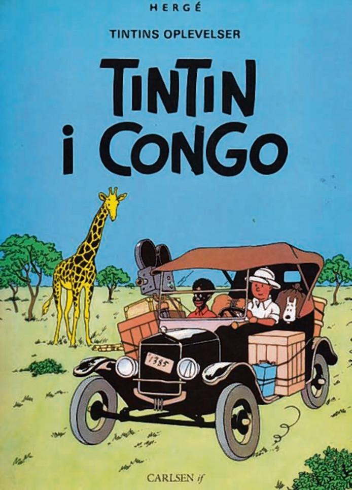 De cover van Kuifje in Afrika