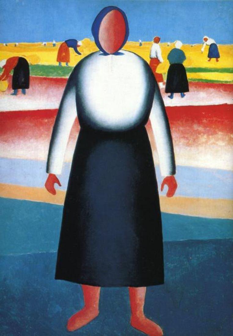 Oogsten, Kazimir Malevitsj (1929) Beeld WikiArt