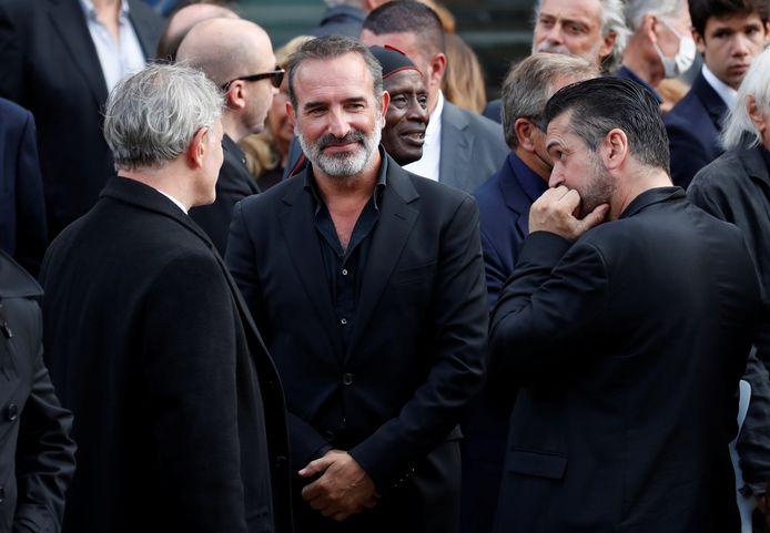 Ook de Franse acteur Jean Dujardin werd gefotografeerd in de menigte.