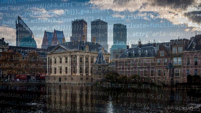 Uitzicht op het Binnenhof in Den Haag Beeld anp
