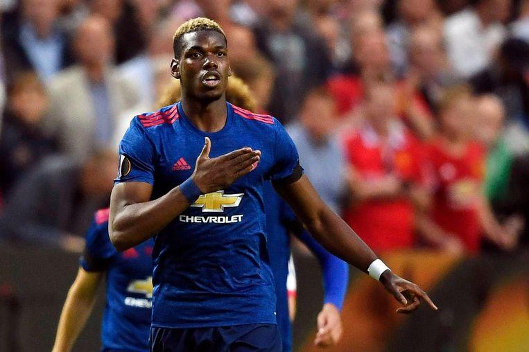 Paul Pogba na zijn 0-1 in de eerste helft Beeld ANP
