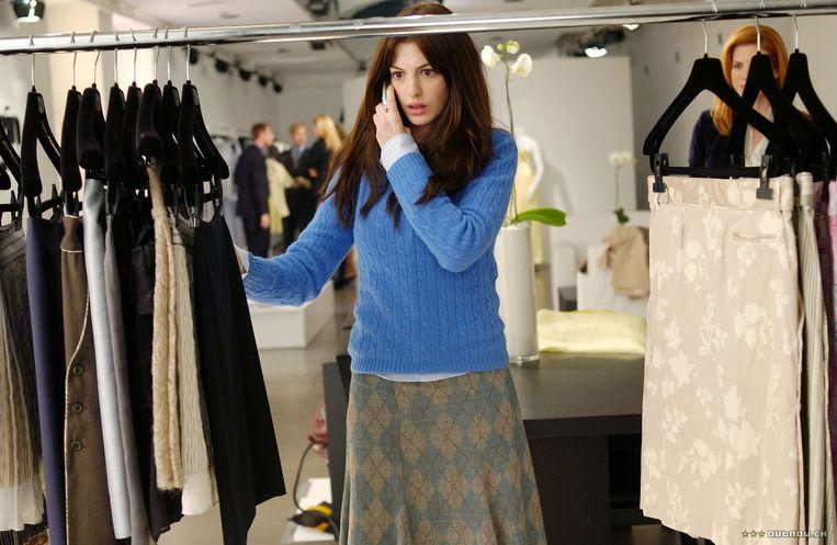 Anne Hathaway in The Devil wears Prada. Beeld