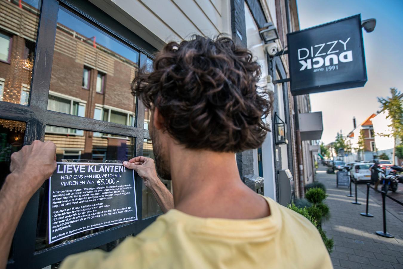 Coffeeshop Dizzy Duck looft een beloning uit van €5000,- voor diegene die een geschikte nieuwe locatie voor ze vindt.