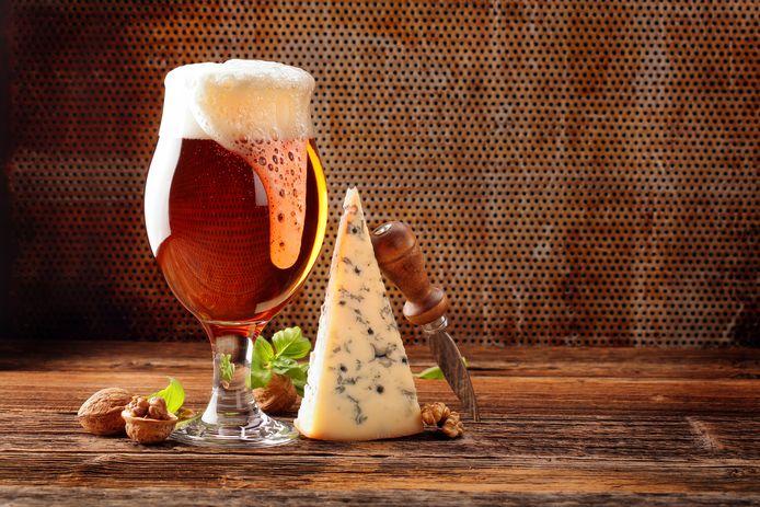 Bier en blauwe kaas: een geweldige combinatie.