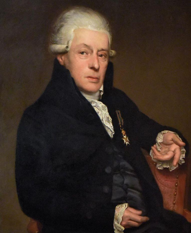 Dichter Rhijnvis Feith, portret door van W.B. van der Kooi uit 1820 Beeld