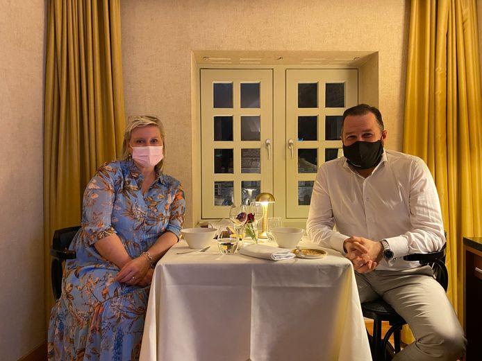Gasten Marijke Sablon en Jos Vermeiren.