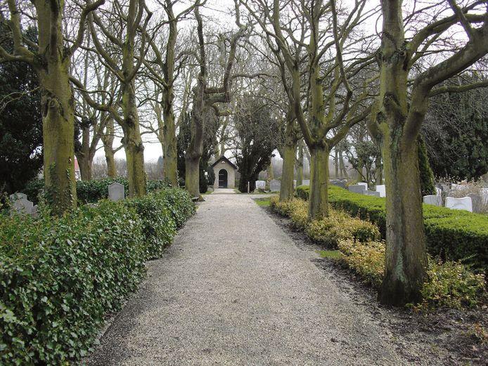 De begraafplaats van Eindewege.