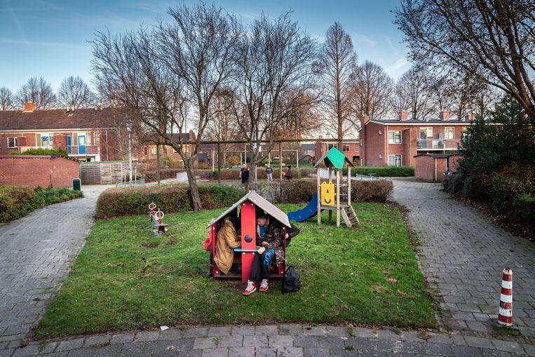 Buurt met sociale huurwoningen in Veendam. Beeld Reyer Boxem