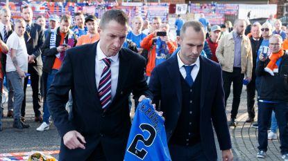 Thomas Buffel eert in Glasgow voor match tegen Feyenoord zijn overleden vriend Fernando Ricksen