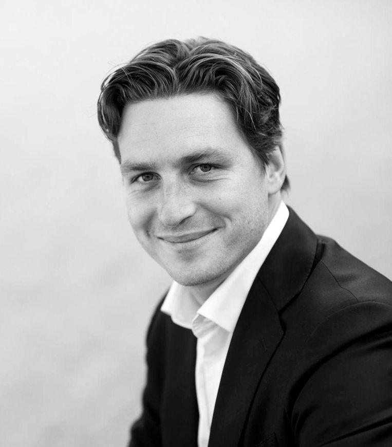 Reinier van Dantzig, Fractievoorzitter D66 Amsterdam. Beeld -