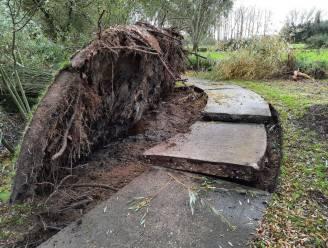 Fietspad Gewad afgesloten door storm