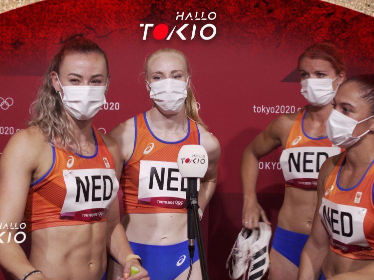 Estafette dames nipt naar finale: 'Kunnen nog stuk harder'