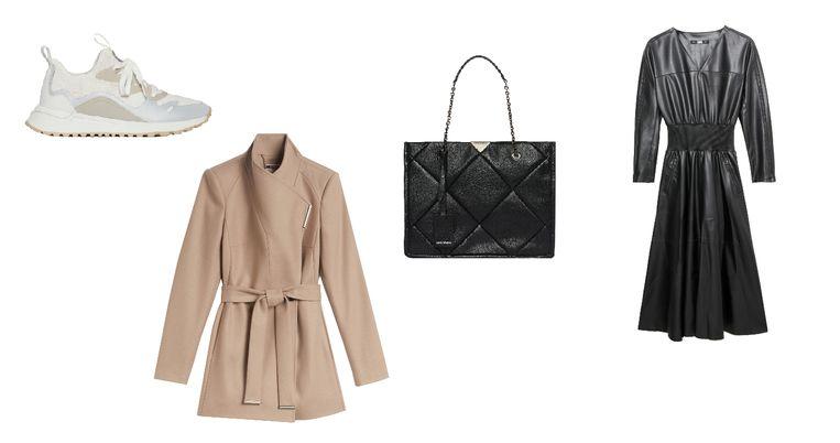 Merken die onder andere te vinden zijn in Designer Outlet Roermond zijn Michael Kors (sneakers), Ted Baker (wollen mantel), Armani (zwarte leren tas) en Karl Lagerfeld (jurk van imitatieleer). Beeld