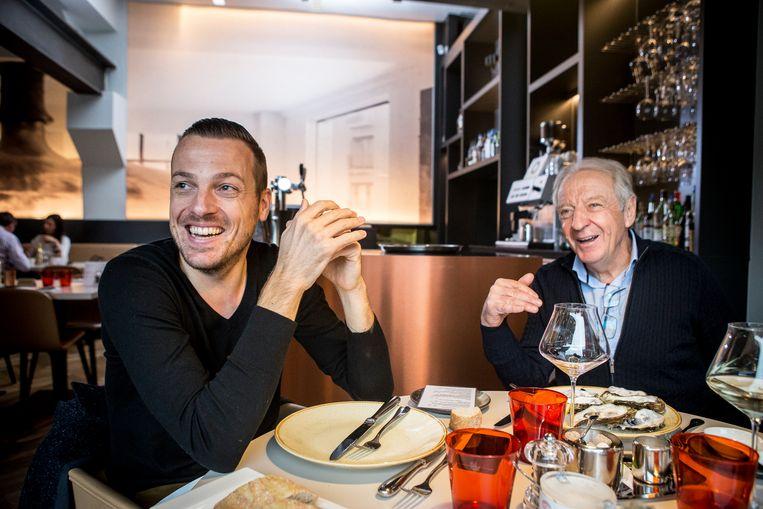 Kevin De Weert en José De Cauwer. Beeld Jan De Meuleneir/Photonews