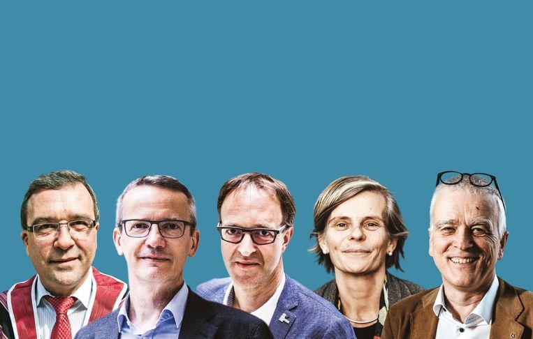 De Vlaamse rectoren. Beeld DM