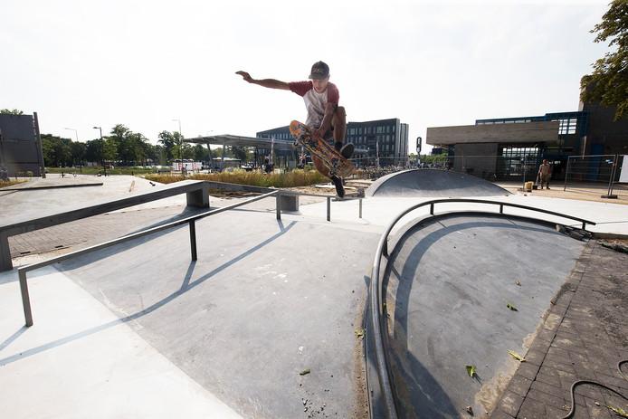 Skatebaan in Doetinchem. De skater op de foto is niet Stefano Secchi.