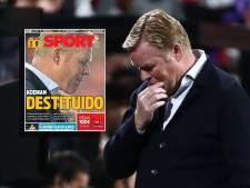 Ronald Koeman ontslagen in vliegtuig: 'Het was waardeloos wat Barcelona heeft gepresteerd'