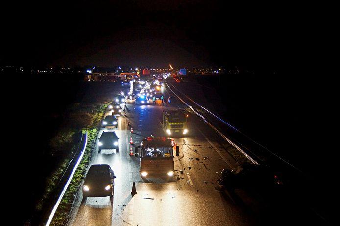 De A59 is afgesloten.