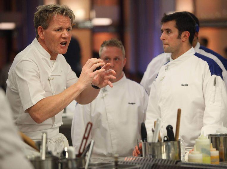 Scène uit 'Hell's Kitchen' met chef-kok Gordon Ramsay. Beeld FOX Image Collection