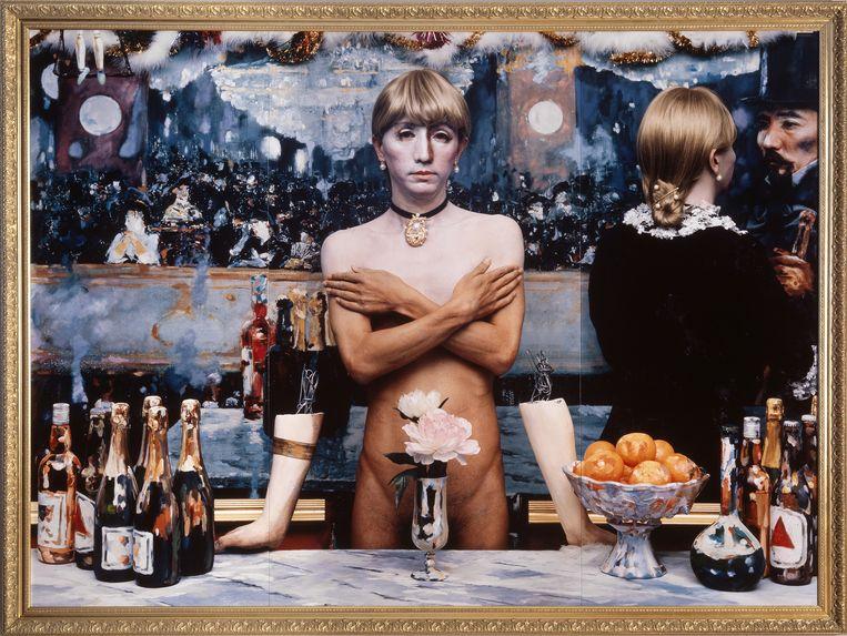 Daughter of Art History ( Theater B), 1990. Te zien in de expo Mémoire et lumière. Beeld rv Yasumasa Morimura. Collection MEP, Paris. Don de la société Dai Nippon Printing Co., Ltd.