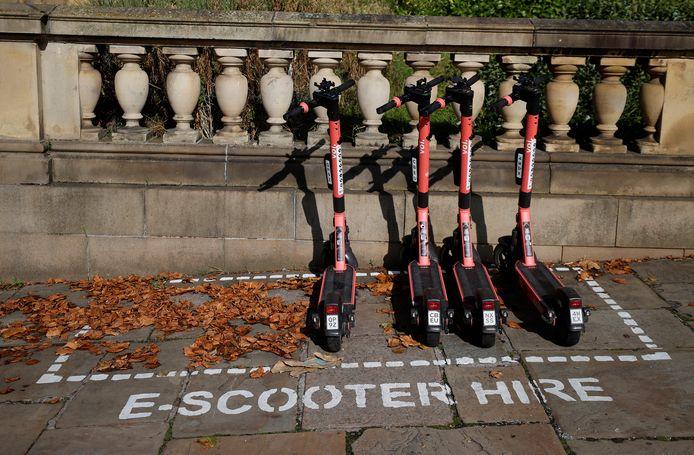 Station de trotinettes Voi à Liverpool, le 21 septembre dernier.