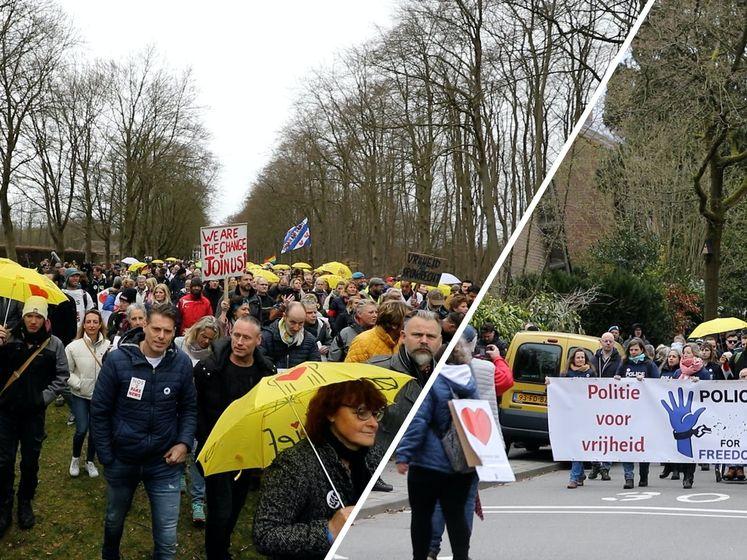 Duizend demonstranten lopen 'mars van menselijke verbinding'