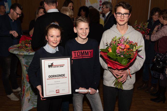 Fien, Menno en Harald werden Amersfoorter van het jaar 2018.