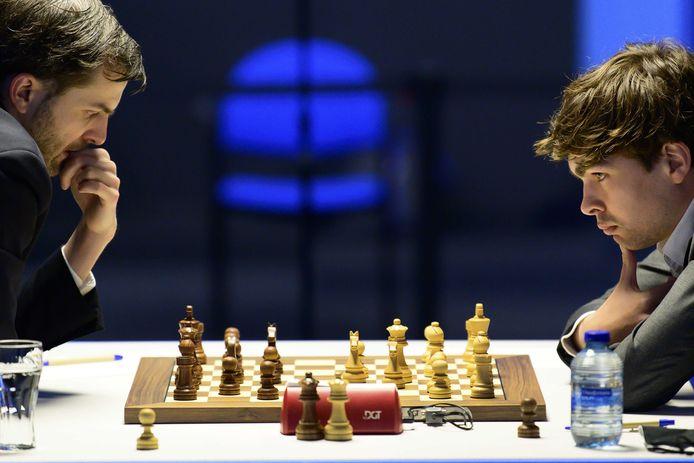 Jorden van Foreest tijdens de laatste ronde van het Tata Steel Chess Tournament.