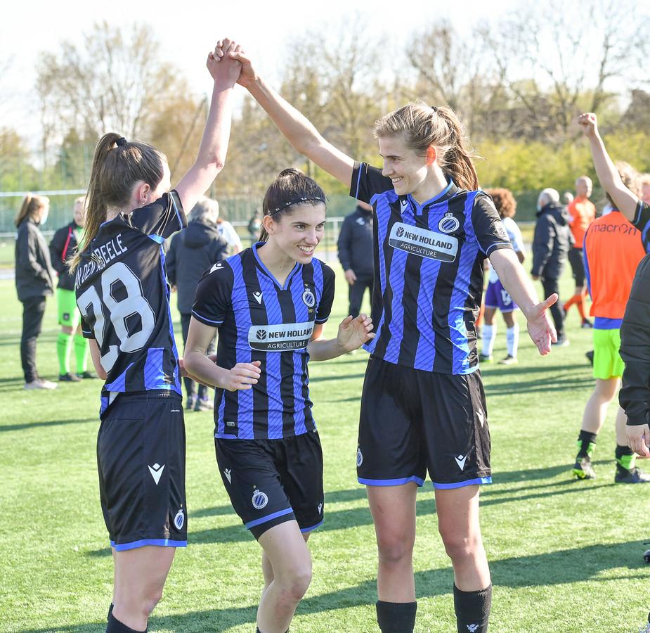 Nicky Van Den Abbeele, Febe Vanhaecke en Marie Minnaert (Club YLA) gaan in Leuven op zoek naar een eerste driepunter sinds eind februari.