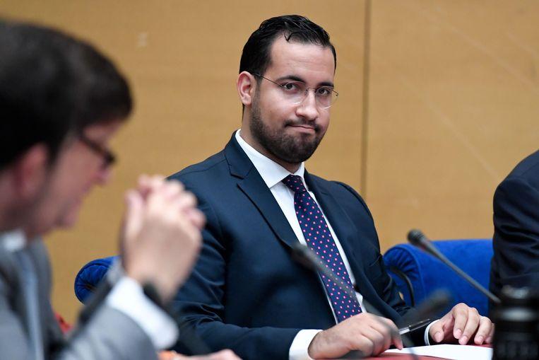 Alexandre Benalla, voormalig veiligheidsmedewerker van Frans president Macron.