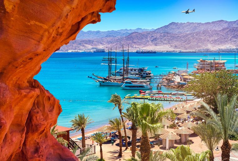De haven van Eilat. Beeld thinkstock