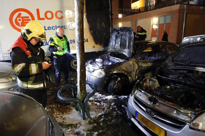 Eerder die avond moest de brandweer ook al uitrukken voor een autobrand op Het Machinaal