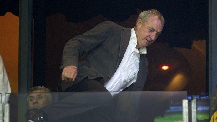 Johan Cruijff op de Ajaxtribune.