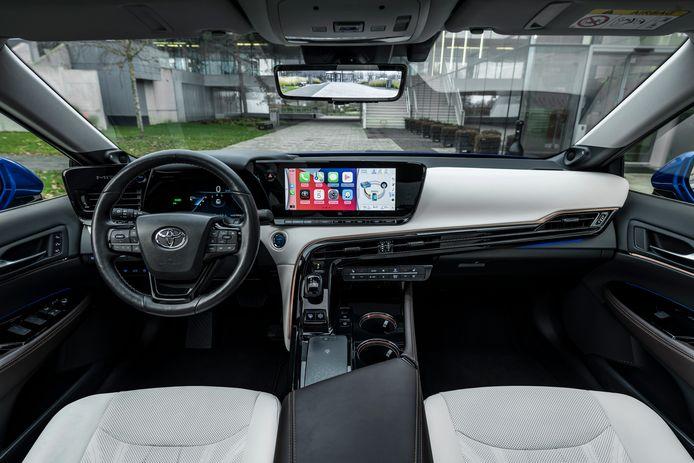 Interieur van de Toyota Mirai