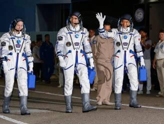 Ruimtestation ISS ontvangt drie nieuwe astronauten
