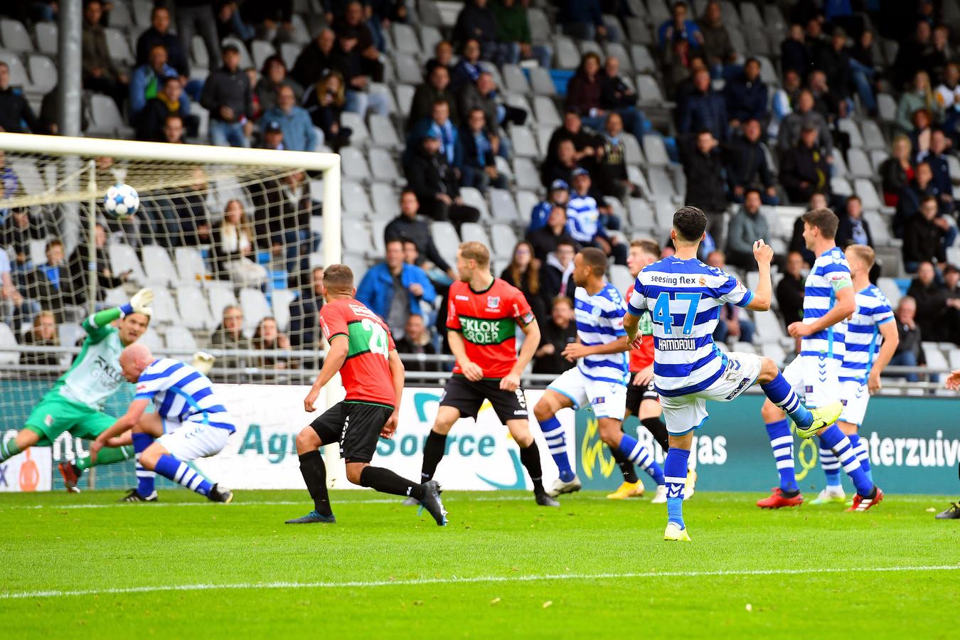 27 september 2020: de laatste keer dat De Graafschap voor publiek speelde op De Vijverberg. De Doetinchemmers wonnen met 2-0 van NEC.