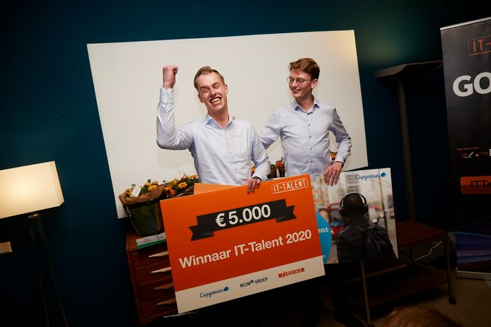 Thomas Van der Wolde is door het dolle heen na de winst van IT-Talent 2020