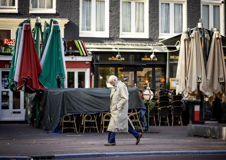 Een gesloten horecazaak in het centrum van Amsterdam. Beeld ANP