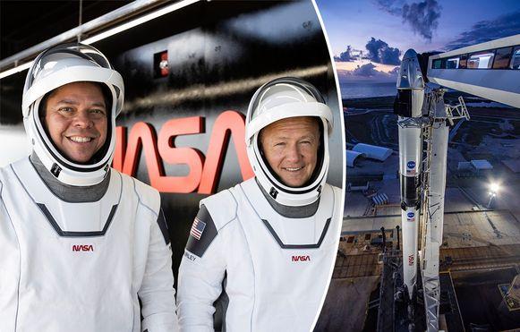Astronauten Bob Behnken (links) en Doug Hurley.