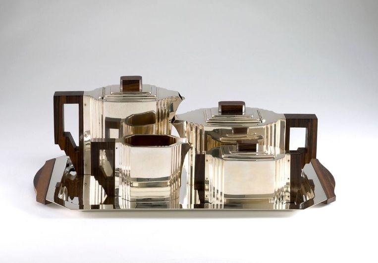 Koffie en theeset van Delheid Frères. Beeld KMKG-MRAH