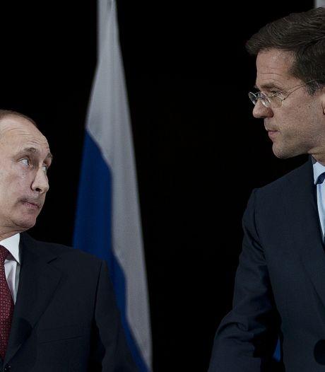 Rutte boos over Russische blokkade Kamerleden