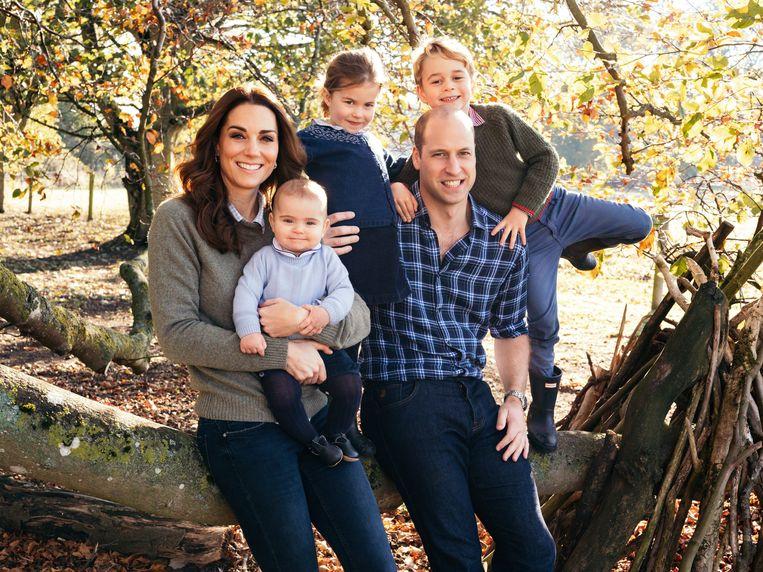 William en Kate met hun kinderen: prins George, prinses Charlotte, en prins Louis.