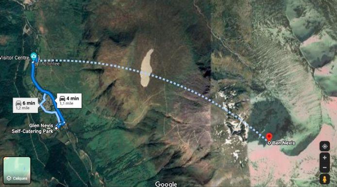 """""""La ligne traverse un terrain très raide, rocailleux et sans sentier où, même par bonne visibilité, il serait difficile de trouver un chemin sûr"""", explique Heather Morning, conseillère en sécurité pour Mountaineering Scotland."""
