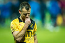 Robbie Haemhouts druipt af na de 6-2-nederlaag.