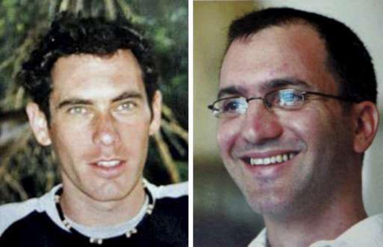 De Israëlische soldaten Eldad Regev en Ehud Goldwasser blijken omgekomen. Beeld UNKNOWN